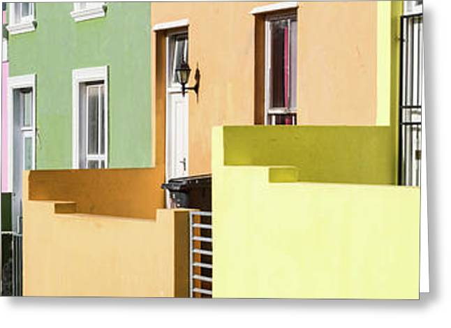 Colorful Houses In A City, Bo-kaap Greeting Card