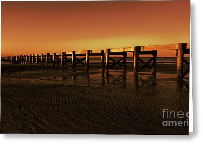 Colorful Pier Greeting Card