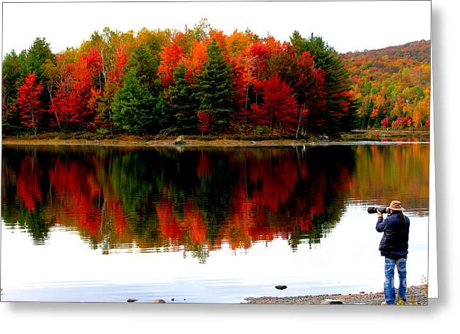 Colorful Reflection Greeting Card by Arie Arik Chen