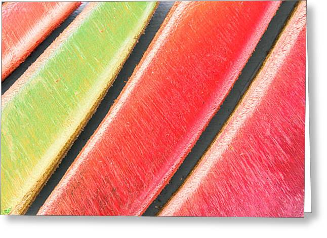 Colorful Wood Greeting Card by Tom Gowanlock