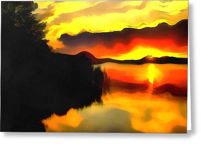 Colors At The Lake Greeting Card