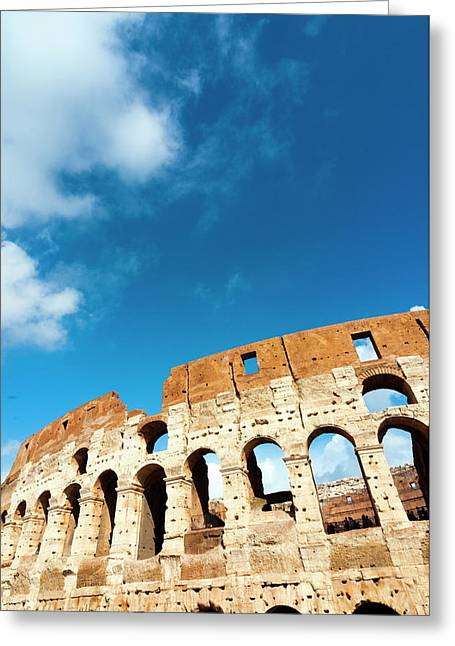 Colosseum Or Flavian Amphitheatre Greeting Card