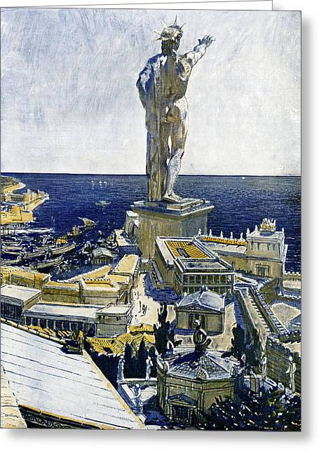 Colossus Of Rhodes Greeting Card by Cci Archives