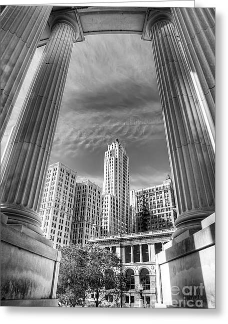 Columns Of War Memorial Greeting Card by Twenty Two North Photography