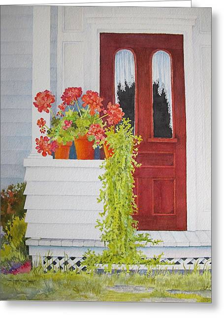 Come On In Greeting Card by Mary Ellen Mueller Legault