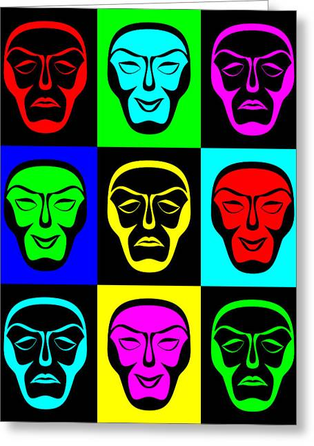Comedy And Tragedy Greeting Card by Jane McIlroy