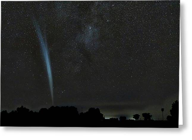 Comet Lovejoy Greeting Card by Luis Argerich