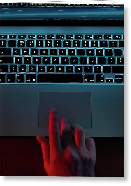 Computer Fraud Greeting Card