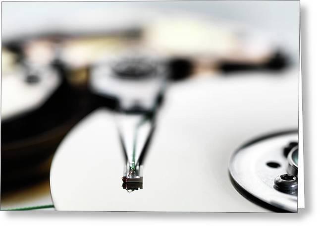 Computer Hard Drive Greeting Card by Tek Image