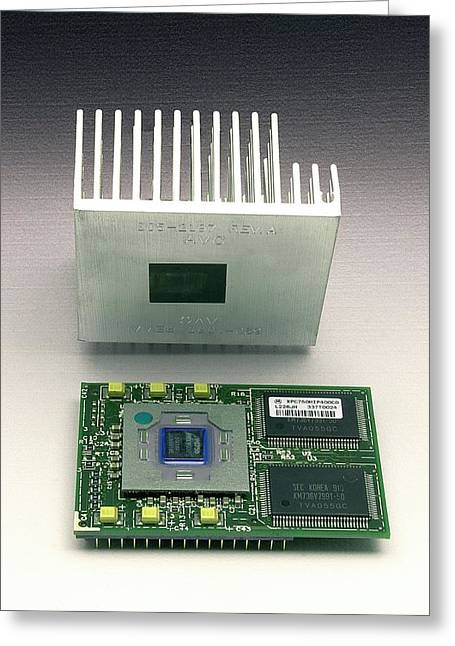 Computer Heat Sink Greeting Card by Sheila Terry