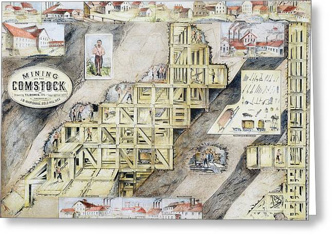 Comstock Lode, 1859-79 Greeting Card