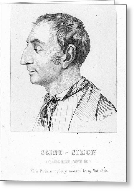 Comte De Saint-simon (1760-1825) Greeting Card