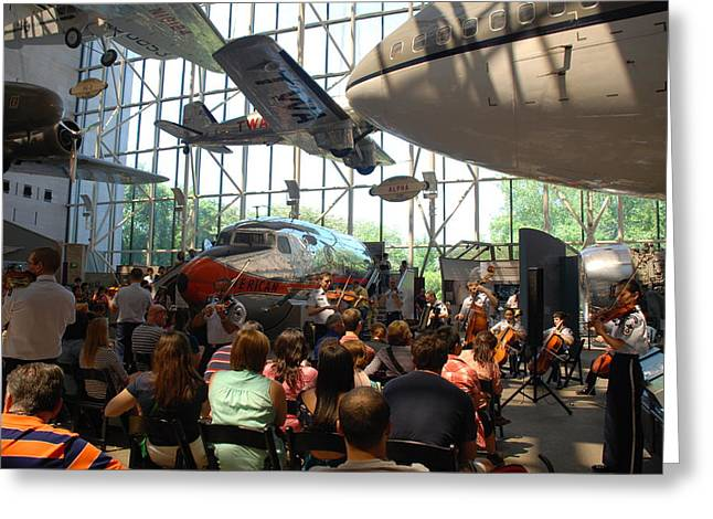 Concert Under The Planes Greeting Card