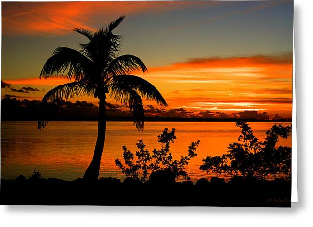 Conch Key Bay Sunset Greeting Card