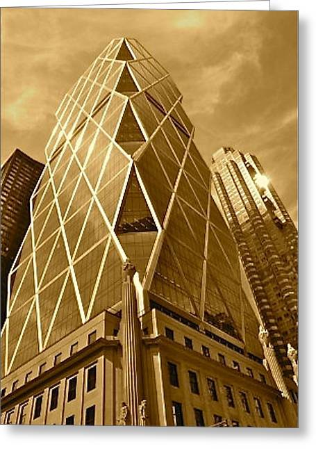 Concrete Jungle Greeting Card by Debbi Downs