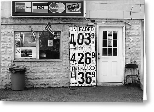 Congers New York - Gas Station Greeting Card