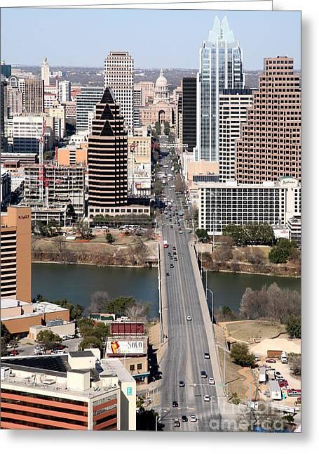 Congress Avenue Austin Texas Greeting Card by Bill Cobb