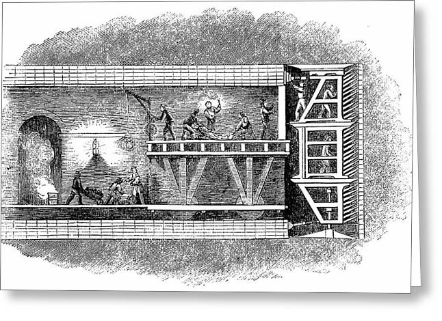 Construction Of Thames Tunnel Greeting Card