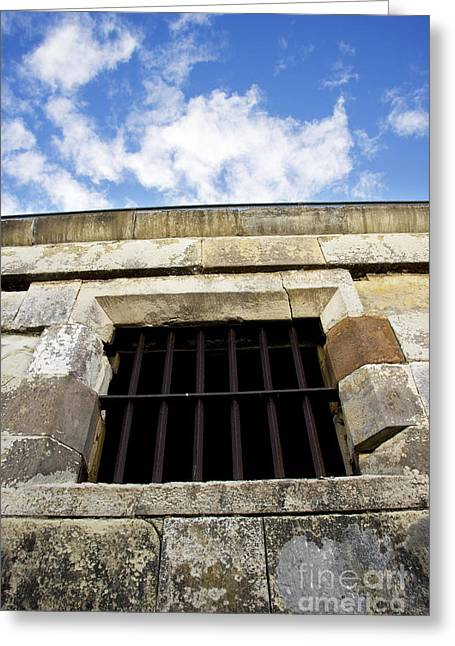 Convict Cell Greeting Card by Jorgo Photography - Wall Art Gallery