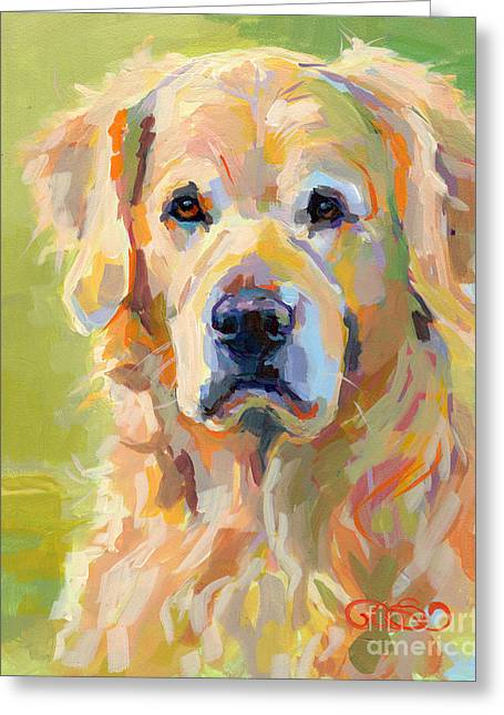 Cooper Greeting Card by Kimberly Santini