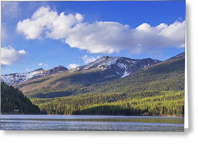 Coopers Lake In The Lolo National Greeting Card by Chuck Haney