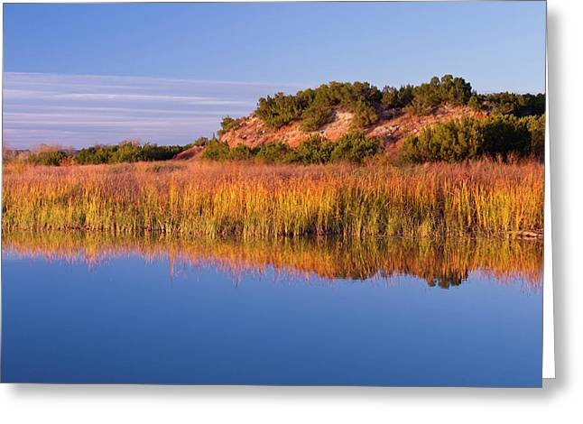 Copper Breaks State Park In Autumn Greeting Card by Larry Ditto