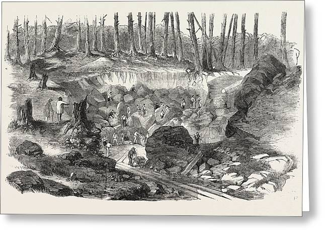 Copper Mine Or Quarry, Near Montreal, Canada Greeting Card