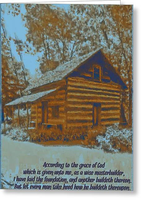 1 Corinthians 3 10 Greeting Card by Michelle Greene Wheeler