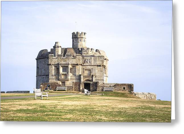 Cornwall - Pendennis Castle Greeting Card by Joana Kruse