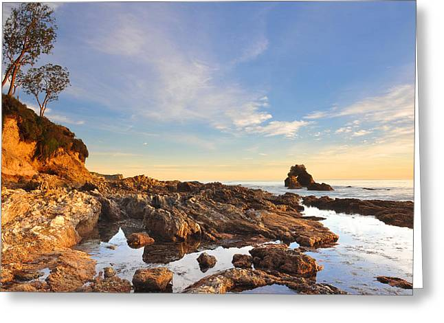 Corona Del Mar Beach Greeting Card by Dung Ma