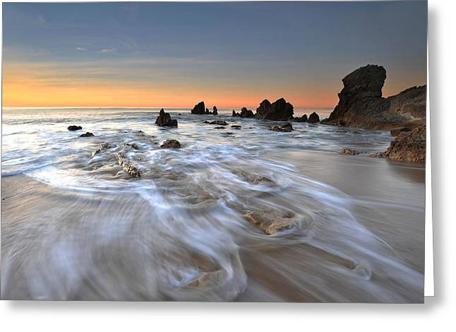 Corona Del Mar Sunrise Greeting Card by Dung Ma