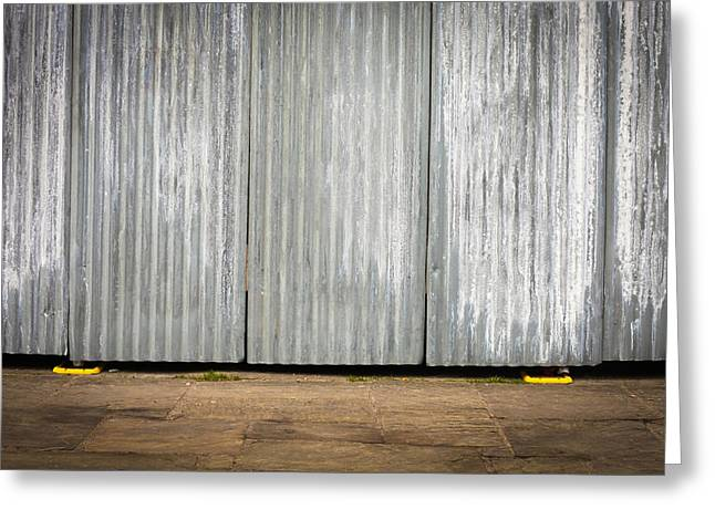 Corrugated Metal Greeting Card by Tom Gowanlock