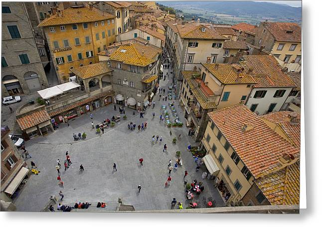 Cortona Piazza 2 Greeting Card