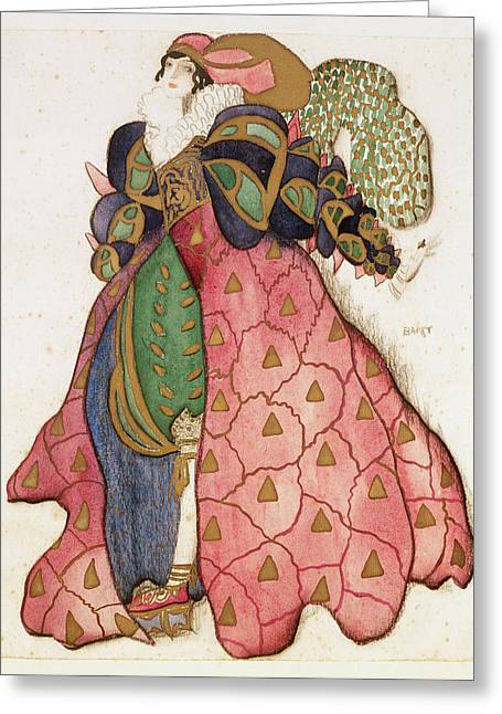 Costume Design For The Ballet La Greeting Card by Leon Bakst