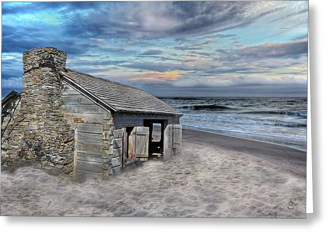 Cottage By The Sea Greeting Card by Betsy Knapp