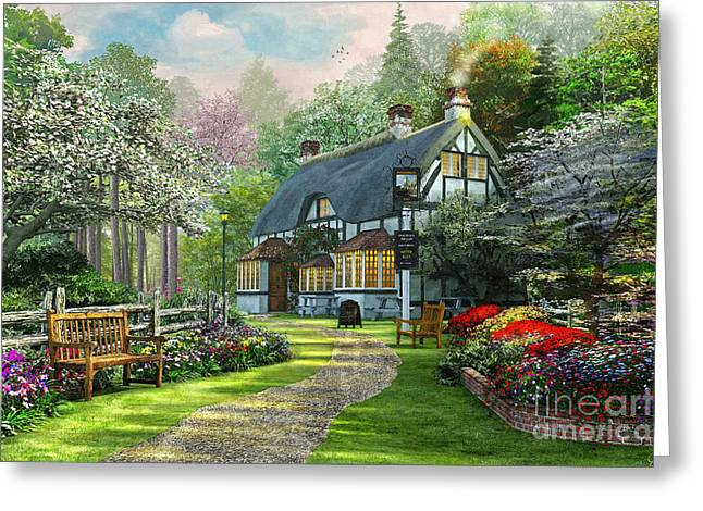 Cottage Pub Greeting Card
