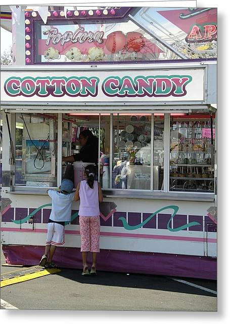 Greeting Card featuring the photograph Cotton Candy by Cynthia Marcopulos