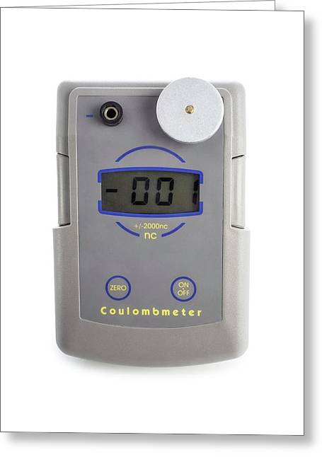 Coulombmeter Greeting Card by Science Photo Library