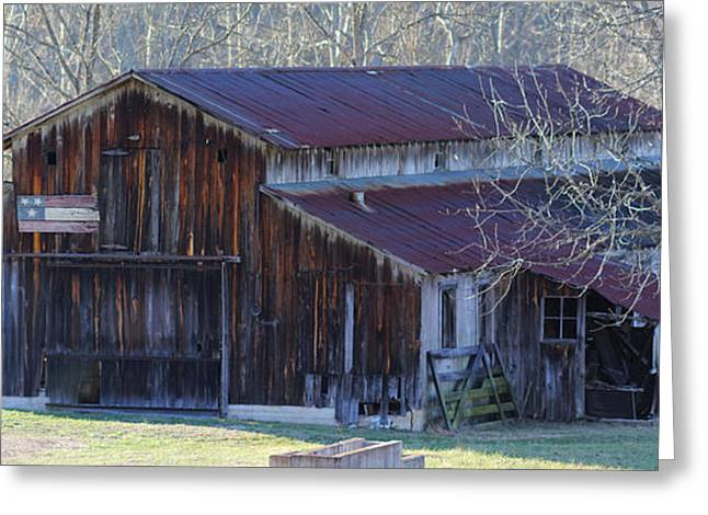 Country Dairy Barn Greeting Card by Houston Haynes
