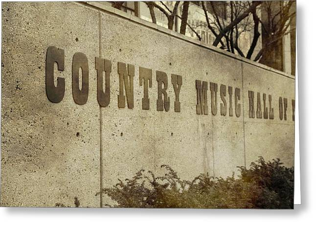 Country Music Hall Of Fame Greeting Card by Dan Sproul
