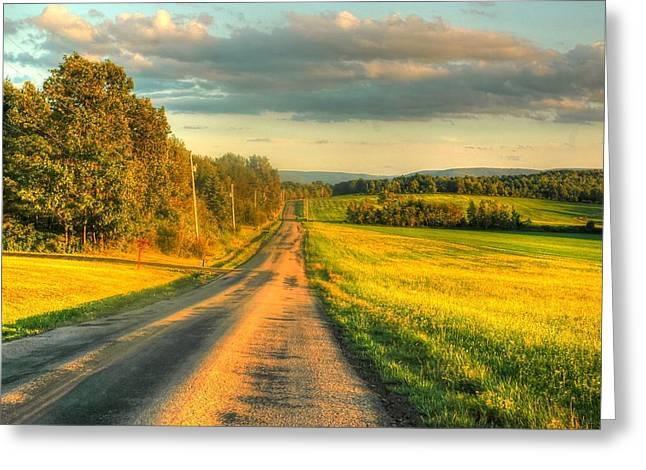 Country Road Greeting Card by Ed Roberts