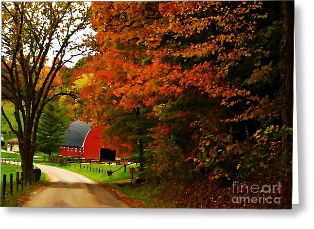 Country Side Painting Greeting Card