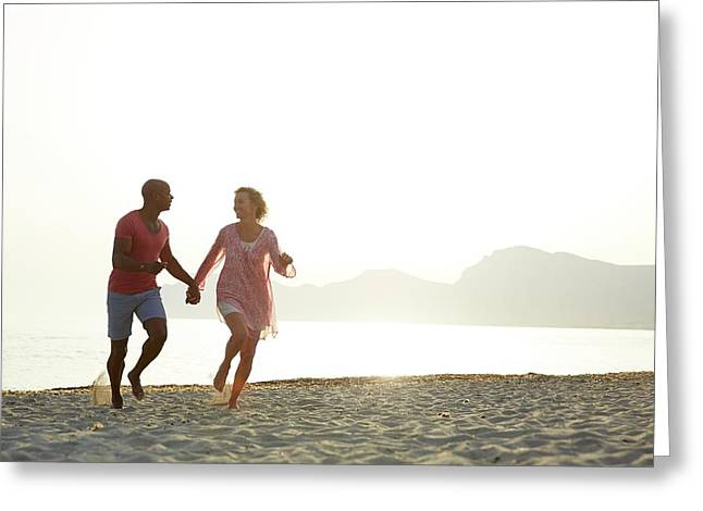 Couple Holding Hands Greeting Card by Ruth Jenkinson