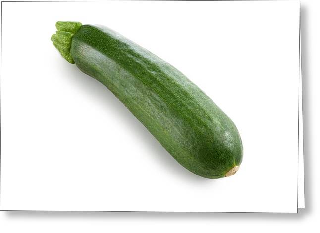 Courgette Greeting Card by Science Photo Library