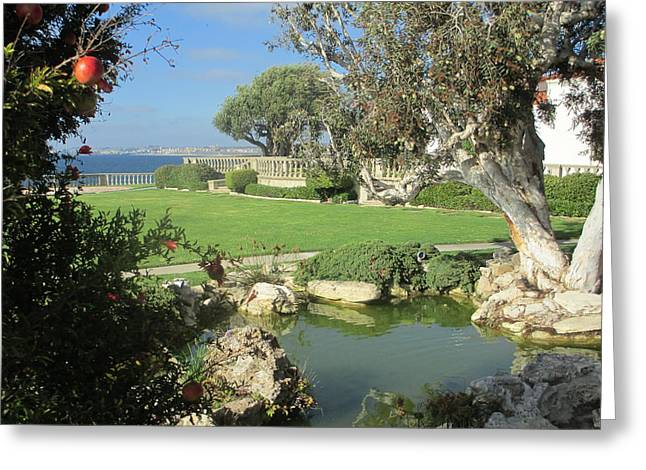 Courtyard On The Cliffs Greeting Card