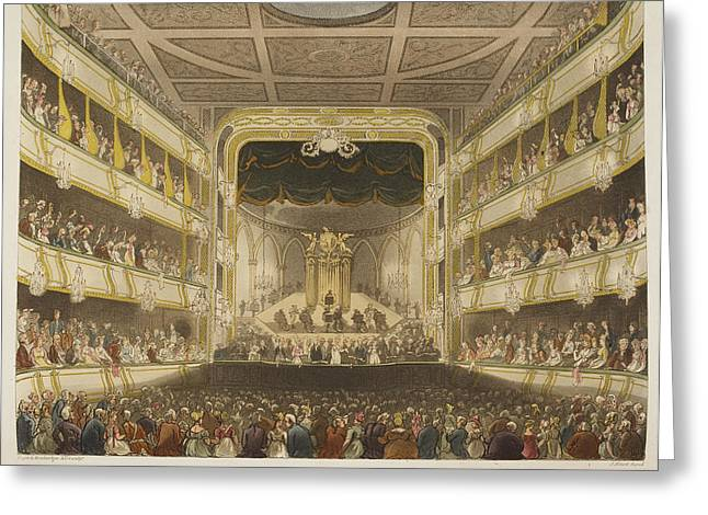 Covent Garden Theatre Greeting Card