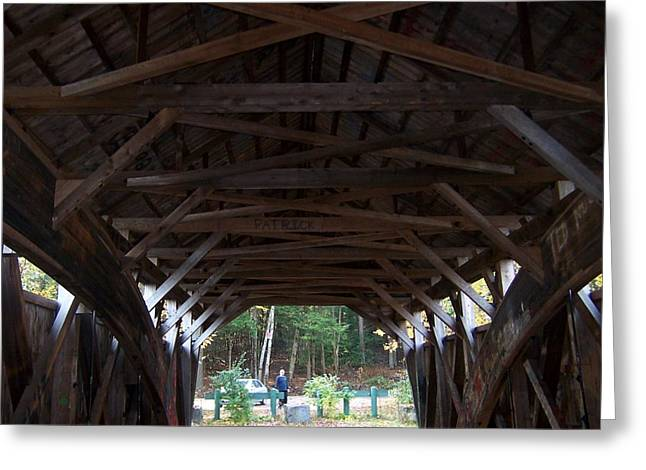Covered Bridge Greeting Card by Catherine Gagne