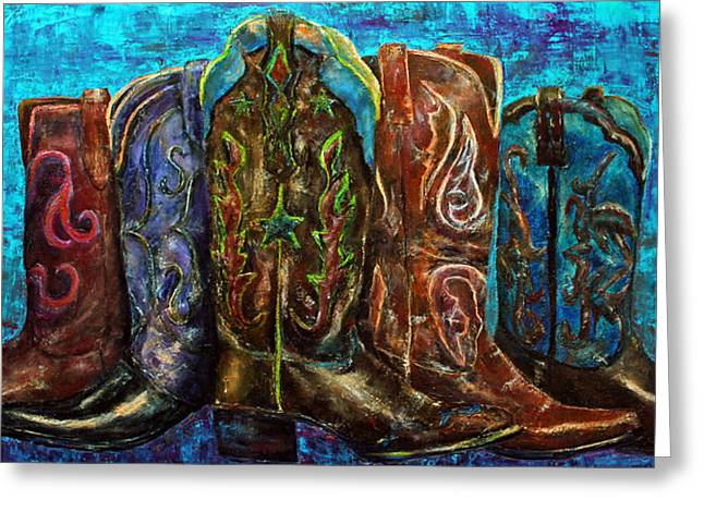 Cowgirl Boots Greeting Card