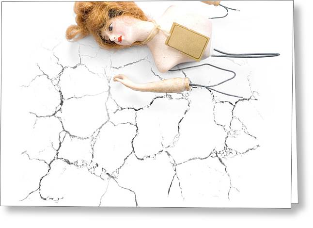 Cracked And Broken Greeting Card by Jorgo Photography - Wall Art Gallery