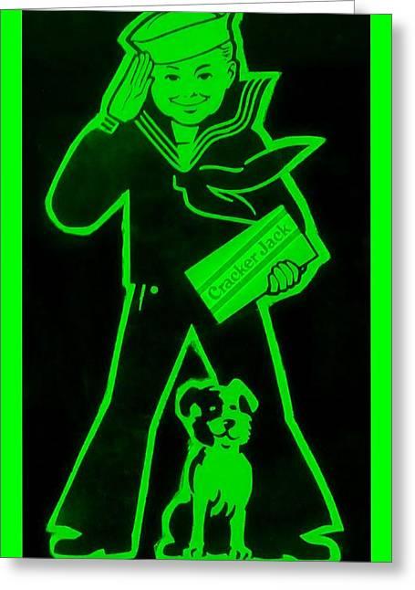 Crackerjack Green Greeting Card